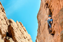 Female Mountain Climber Woman Stock Image