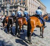 Female mounted patrol Royalty Free Stock Photos