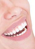 Female mouth with perfect smile Stock Images