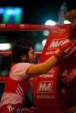 Female Muay Thai Kickboxer Between Rounds Stock Image