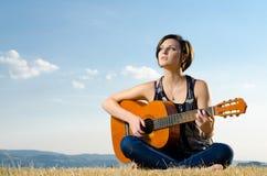 Female musician Stock Image