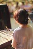 Female musician dulcimer accompaniment Stock Image