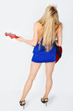 Female musician with her instrument Royalty Free Stock Photography