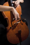 Female Musician Playing Violoncello Royalty Free Stock Photo
