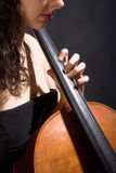 Female Musician Playing Violoncello Stock Photography