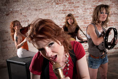 Female musicians Royalty Free Stock Image