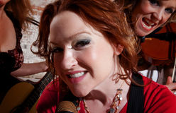 Female Musicians Stock Photography