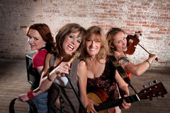 Female Musicians Royalty Free Stock Photography