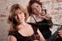 Female musicians Royalty Free Stock Photos