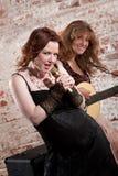 Female musicians Stock Photos