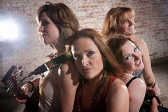 Female musicians Stock Photos