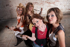 Female musicians Stock Images