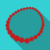 Female necklace of precious stones. Dressing for women under the dress.  Woman clothes single icon in flat  Stock Photography