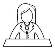 Female News Anchor Stock Photography