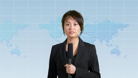 Female news anchor in studio Royalty Free Stock Images