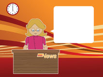 Female news reader Royalty Free Stock Photography