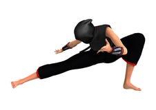 Female Ninja on White Stock Image