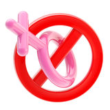 Female not allowed sign isolated Royalty Free Stock Image