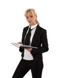 Female with notebook. Stock Photography