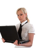 Female with notebook. Stock Images