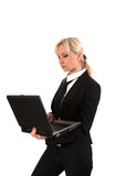 Female with notebook. Stock Photo