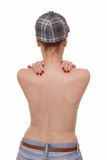 Female nude back Stock Images