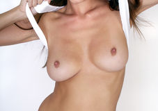 Female nude breasts Stock Image