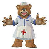 Female Nurse Bear Stock Photo