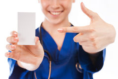 Female nurse, doctors hands Stock Photos
