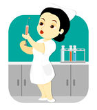 Nurse in the Lab Royalty Free Stock Images