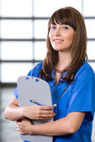 Female Nurse in a modern office Stock Photos