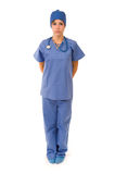 Female nurse in scrubs Royalty Free Stock Images