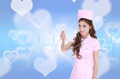 Female nurse with stethoscope Royalty Free Stock Photo