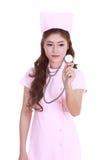 Female nurse with stethoscope Stock Photography