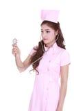 Female nurse with stethoscope Stock Image