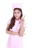 Female nurse with stethoscope Stock Images