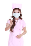Female nurse with stethoscope Royalty Free Stock Photography