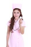 Female nurse with stethoscope Royalty Free Stock Images