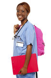 Female nurse under training Stock Images