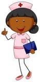Female nurse in uniform holding file Royalty Free Stock Photo