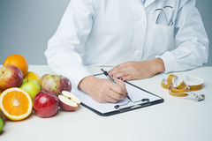 Female nutritionist at work Royalty Free Stock Photo