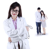 Female obstetrician with her patient Stock Photography