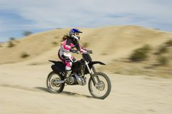 Female Off Road Racing With Speed Royalty Free Stock Photography