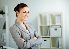 Female in office Royalty Free Stock Images