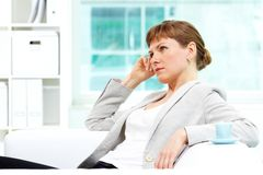 Female in office Royalty Free Stock Image