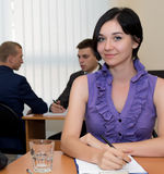 Female office administrator Royalty Free Stock Photos