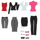 Female office clothes stock illustration