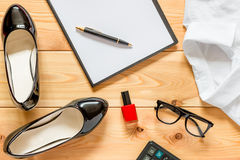 Female office clothes and accessories Royalty Free Stock Image