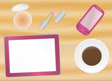 Female office table Stock Images