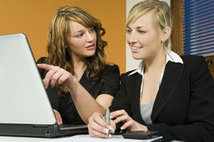 Female Office Teamwork Stock Photo